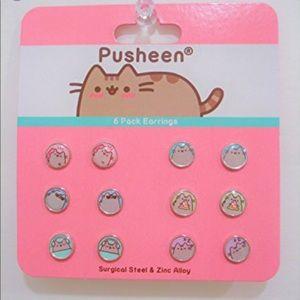 Pusheen 6 pack Surgical Steel Stud Earring Set